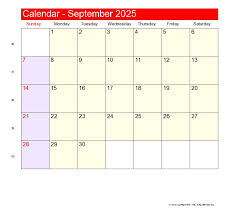 calendar 2025